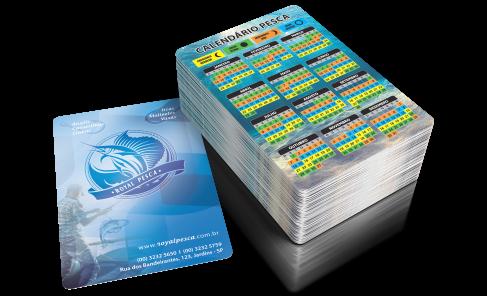 Calendários de Pesca 2021 Personalizado | Gráfica Atual Card